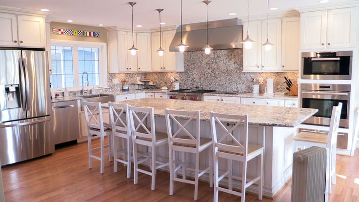 We installed the cabinetry in this beautiful kitchen for Brighton kitchen cabinets