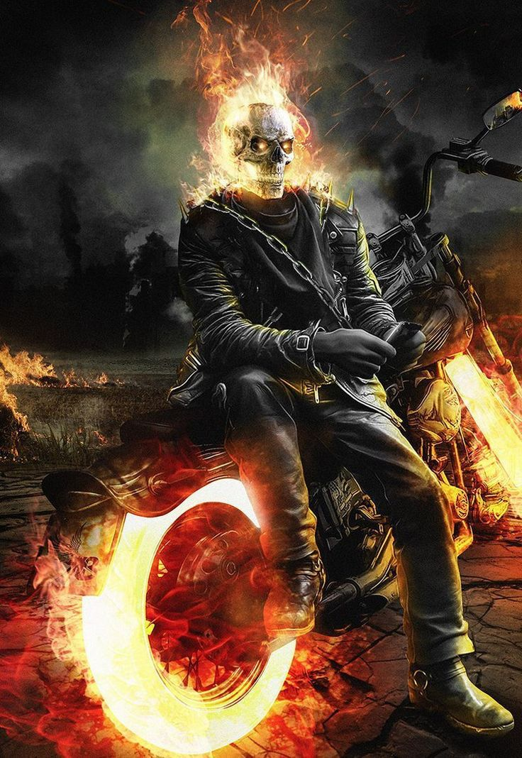 ghost rider If the mcu's black panther ever got a ghost rider makeover, this fan art might be something along the lines of how he would look.