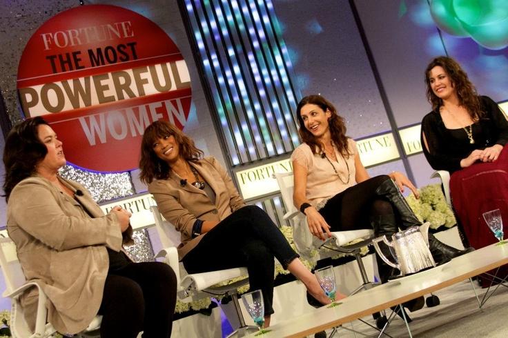 Rosie, Tyra & Jessica Herrin (founder of stella & dot) at Fortune's most powerful women summit.