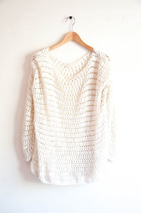 $6 on Etsy.. CROCHET PATTERN DIY Sweater crochet pattern easy by joyofmotion would look pretty off the shoulder with a tank underneath