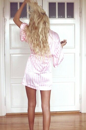 I love the Victoria secrets silky robes <3