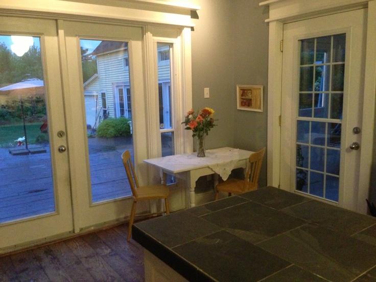 Breakfast nook in the kitchen (main house).