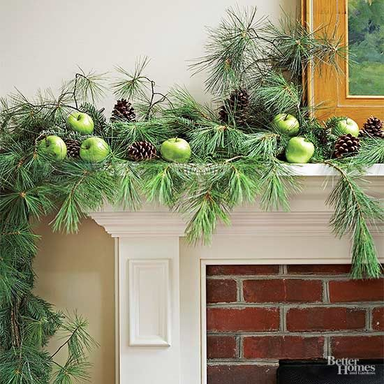 Pinecones on a fireplace mantle are a simple and elegant way to make your home feel warm and cozy.