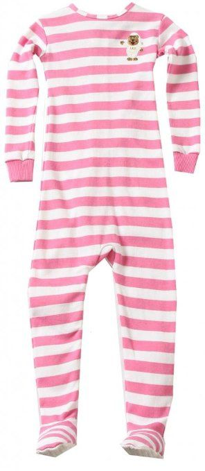 Little Keeper Sleeper Girls' Long Sleeve With Footies Zippered Back Inescapable Pajamas 4T Pink