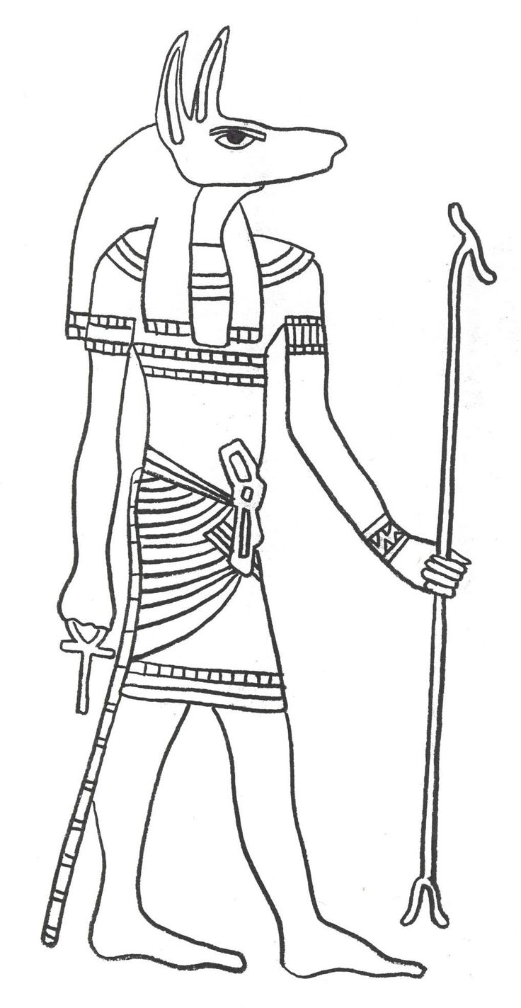 Egyptain Patterns to Color | Gods of Ancient Egypt - Coloring Sheets