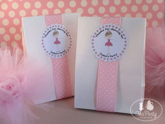 My Little Ballerina...Personalized Party Favor Stickers from Tea Party Designs