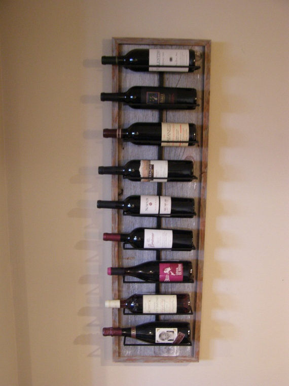 Barnwood Winerack by WineStaveCrafts on Etsy, $90.00