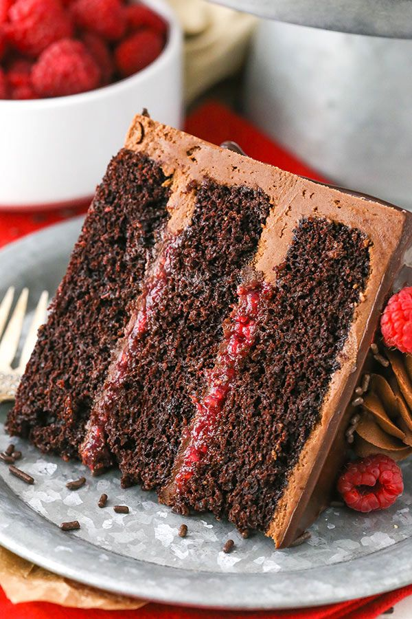 Raspberry Chocolate Layer Cake Recipe With Images Heavenly