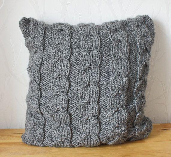 Mano a maglia cuscino copertina cuscino decorativo di CreamKnit