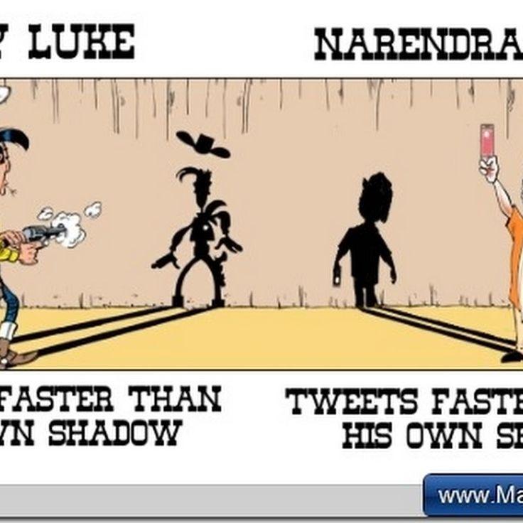 Somedays I do surprise myself ;-) #luckyluke   #narendramodi   #bjp  http://bit.ly/mnow160130