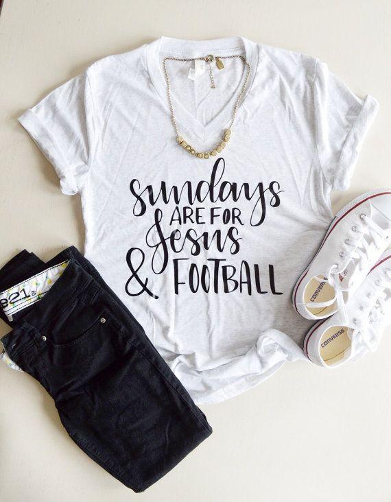 Jesus and Football Christian Tee Woman Football by MaeRyanCo