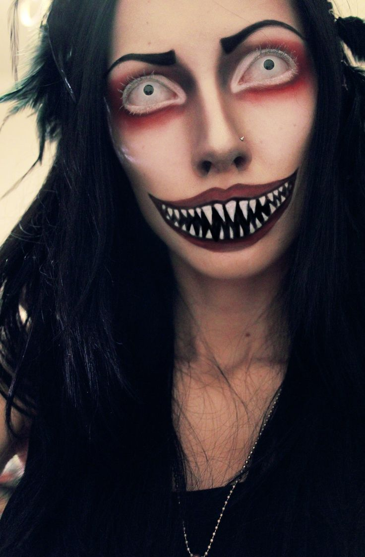 Demonic FX makeup ideas, paired with all white special effects contacts => http://www.pinterest.com/pin/350717889705706572/