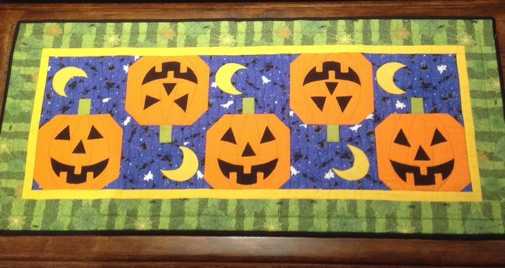 Halloween table runner 2017