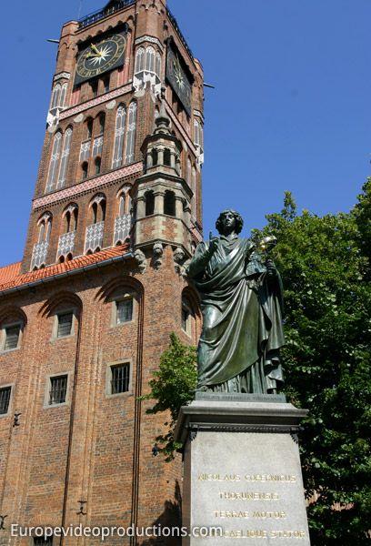 Statue of Nicolaus Copernicus in Torun in Poland