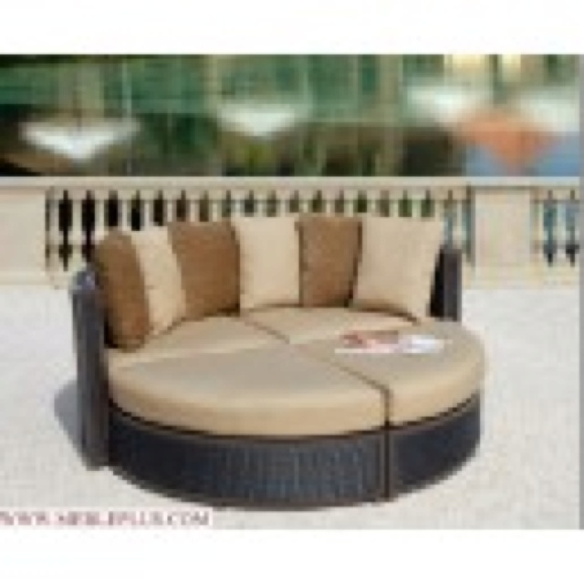A practical and hospitable sun bathing bed that can also transform to four seats
