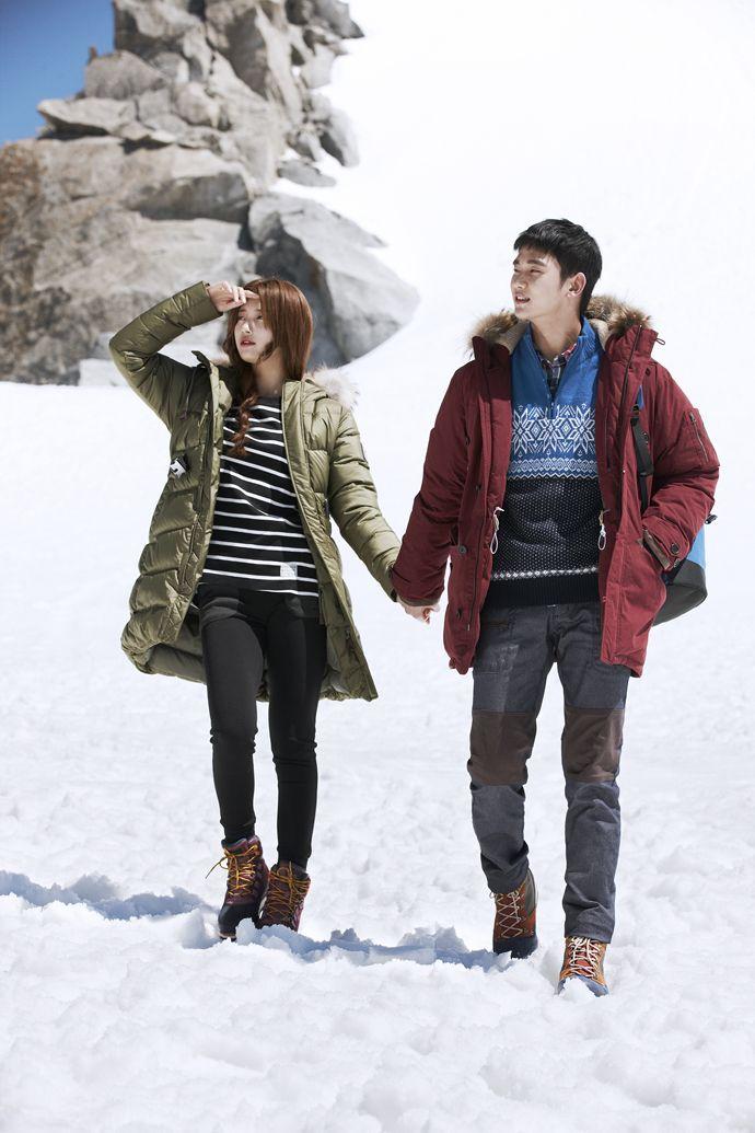 Bean Pole Outdoor's Winter 2013 Ad Campaign Feat. Kim Soo Hyun & Suzy | Couch Kimchi