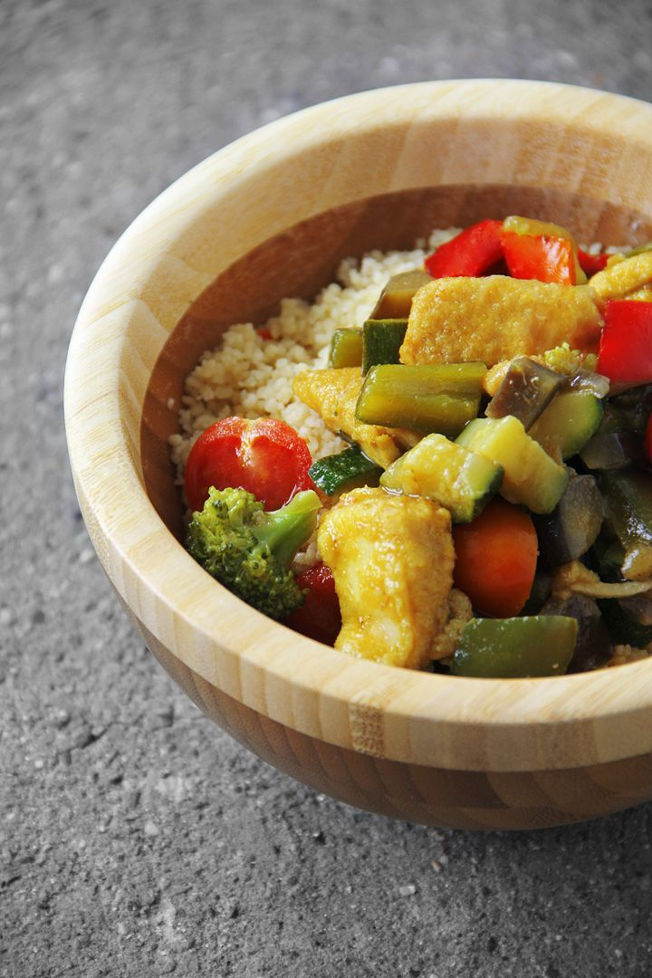 Couscous with chicken and veggies