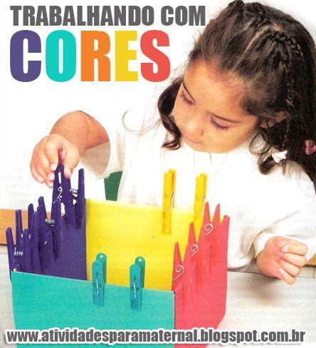 Atividades para maternal, creche e berçário: Como para trabalhar cores com maternal