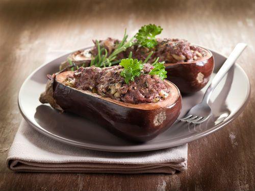 Μελιτζάνες  γεμιστές με αρωματικό κιμά #μελιτζανες #γεμιστα #κιμας #eggplants #stuffed #mincedmeat