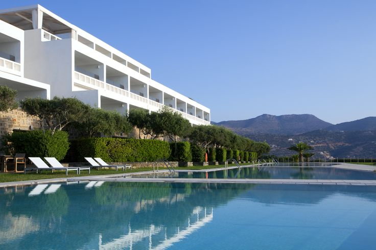 The pool at Minos Palace Hotel in Crete.
