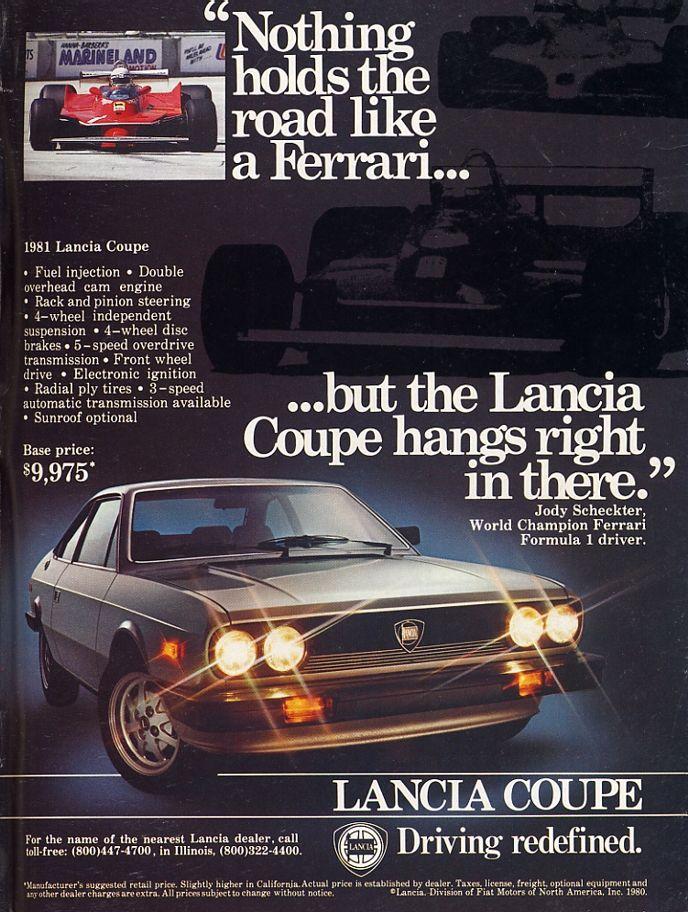 Framed Retro Car Ad 1979 Lancia Beta HPE 2000 70/'s Vintage Automotive Wall Art Print Poster Advertisement
