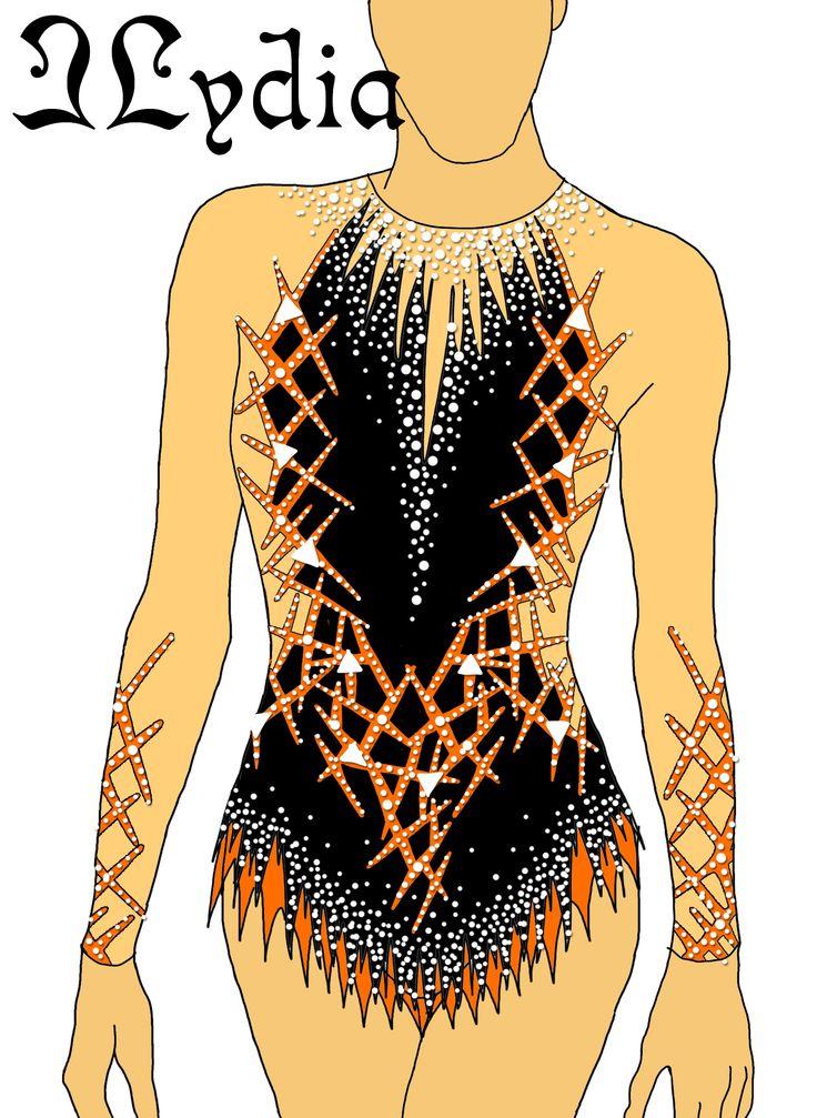 Competition Rhythmic gymnastic leotard design Techno