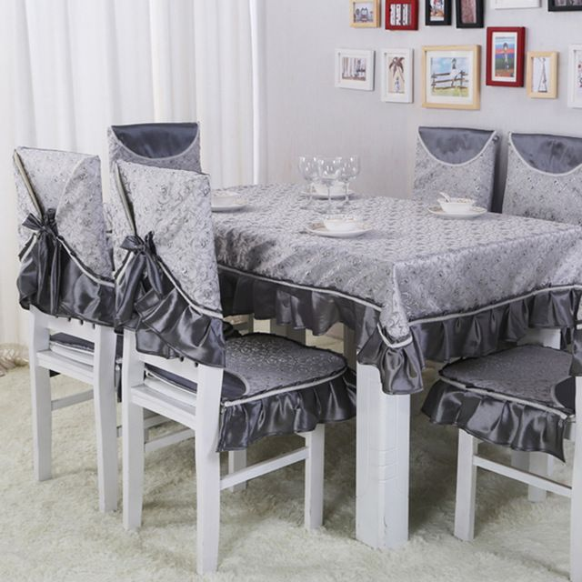 Eat Chair Cushion Cover Antependium Suits High Grade Embroidered Table Cloth