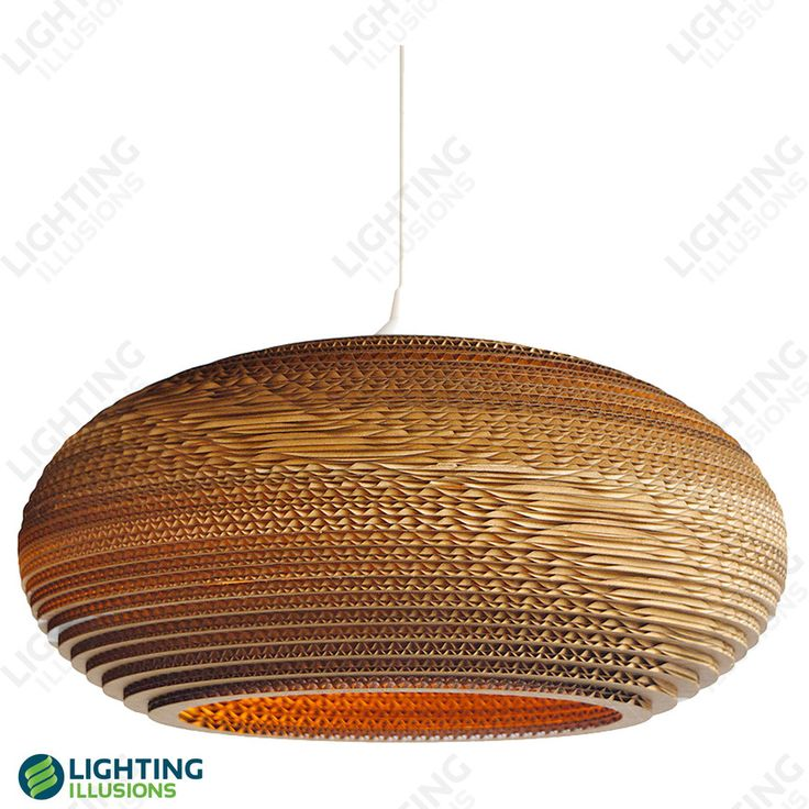 Marantz Layered Corrugated Recycled Cardboard Pendant E27