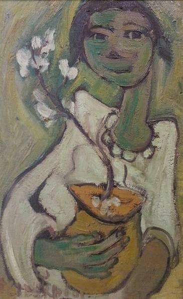 S2878 Frans Claerhout Bride Oil on Board 45cmx71cm