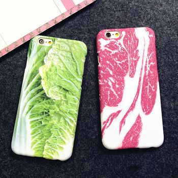 cabbage meat green vegan veggy vegetable iphone case crazy cute awesome weird strange