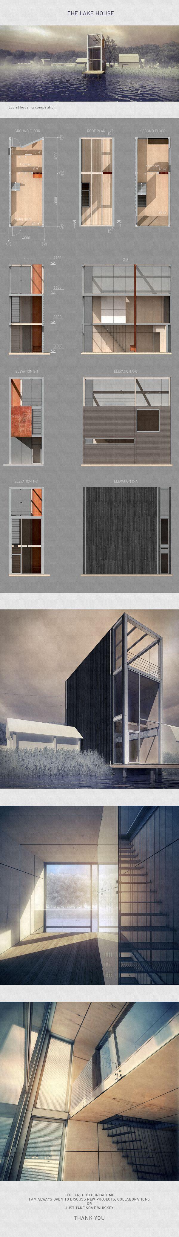 The lake house by Nikita Kolbovskiy, via Behance