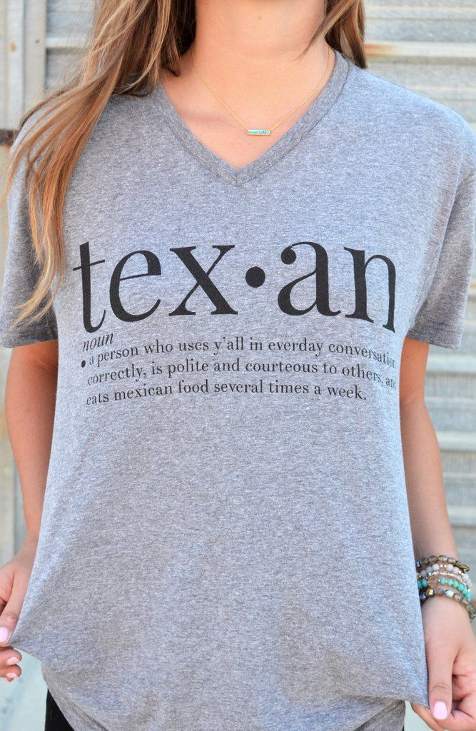 Loves mexican food, uses the word y'all, and is politeness... yep she's a Texan…