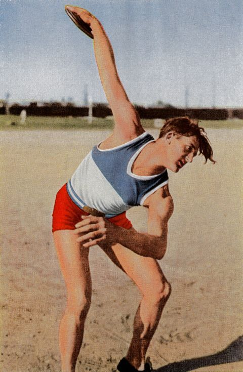 Jules Noel, a French athlete who competed in the discus  and shot put, at the games in Los Angeles.