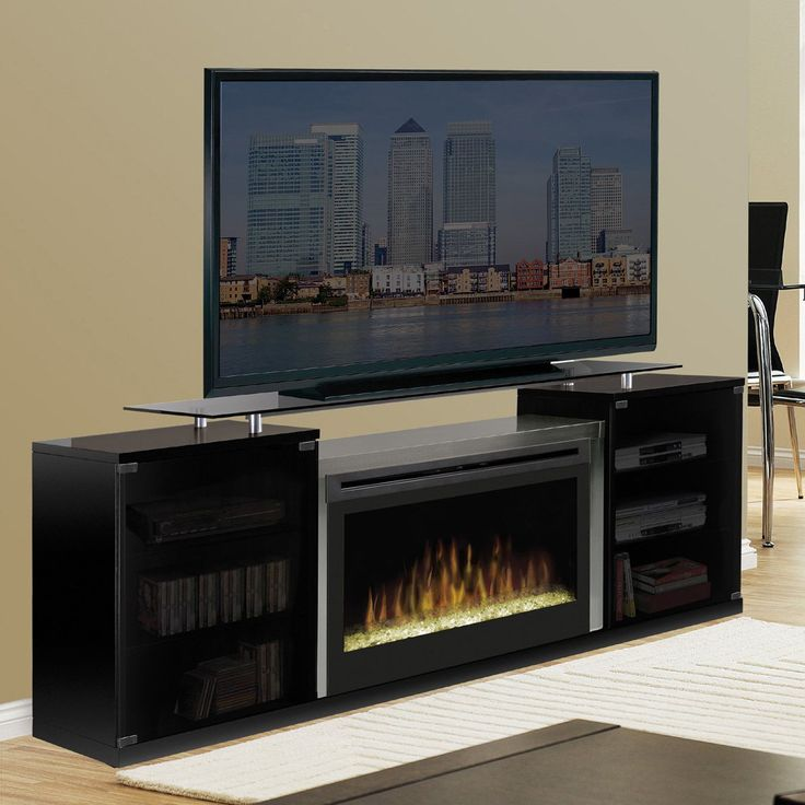 Dimplex Marana Black Entertainment Center Electric Fireplace - The Dimplex Marana Black Entertainment Center Electric Fireplace doesn't waste space, because it combines two of your favorite activities. The...