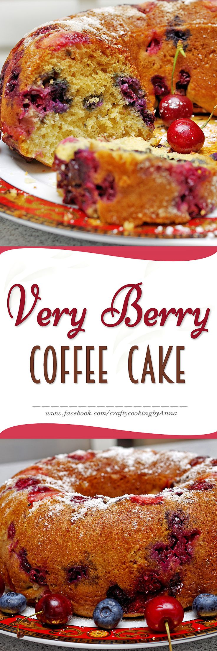 Very Berry Coffee Cake! #Easy #Delicious #Everyday #Beautiful  #Homecooking #Recipes #Dinner #Breakfast #Lunch #Kids #Foddie #Food #Fresh #Foodfollow #Foodporn #Low-Carb #Low-Cal #Yum  #foodstagram #fitchef #yummy #foodlover #tasty #foodheaven  #Nom #Nomnom #Hungry #Follow #Me #CraftyCookingByAnna If you like my recipes, please Follow Me - http://www.pinterest.com/annavil/  and  https://instagram.com/craftycookingbyanna/ and Join Me - https://www.facebook.com/craftycookingbyAnna  Thank you!