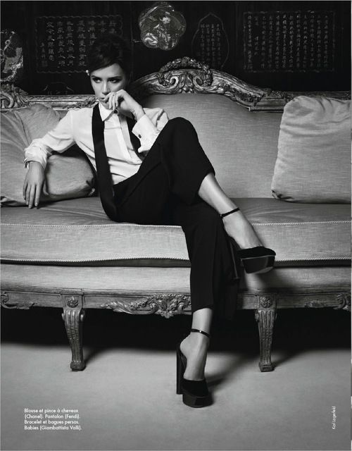 Victoria Beckham by Karl Lagerfield in CoCo Chanel's Apartment Paris. Beautiful