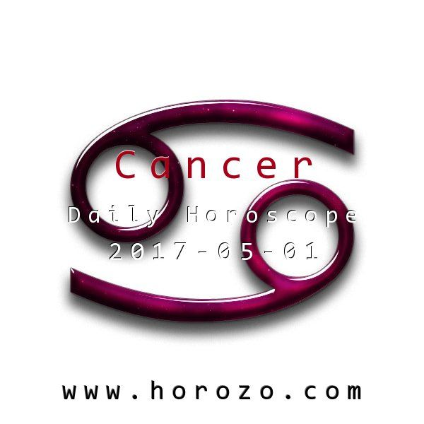 Cancer Daily horoscope for 2017-05-01: You are in touch with your spiritual side in a deeper way today, though that doesn't mean you are spacey or out of touch. You should be able to communicate with others who share your ideas.. #dailyhoroscopes, #dailyhoroscope, #horoscope, #astrology, #dailyhoroscopecancer