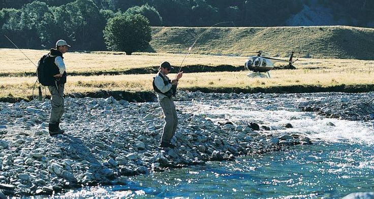 The adventure of heli fishing in New Zealand