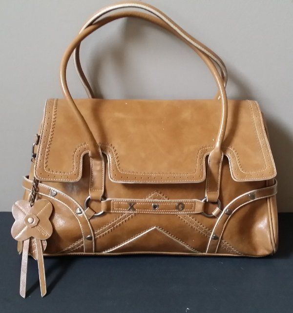 Vintage OXOXO large brown satchel type purse bag with fold over flap #OXOXO #Satchel