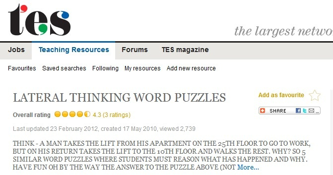 ... thinking word puzzles | Teaching ELA for 6th graders AGAIN