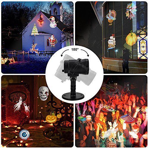 Waterproof LED Projector Light Halloween Thanksgiving Christmas Party Decorative #Tunnkit