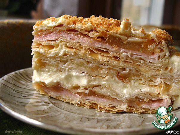 Слоеный тортик с яблоками и заварным кремом ингредиенты