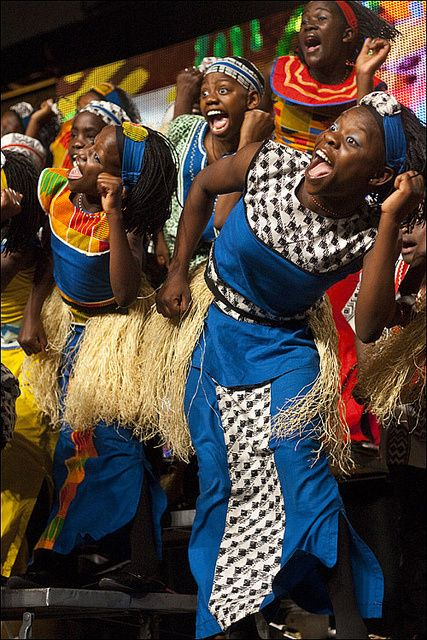 Children of Uganda in cultural dress. Image by  Bread of the World