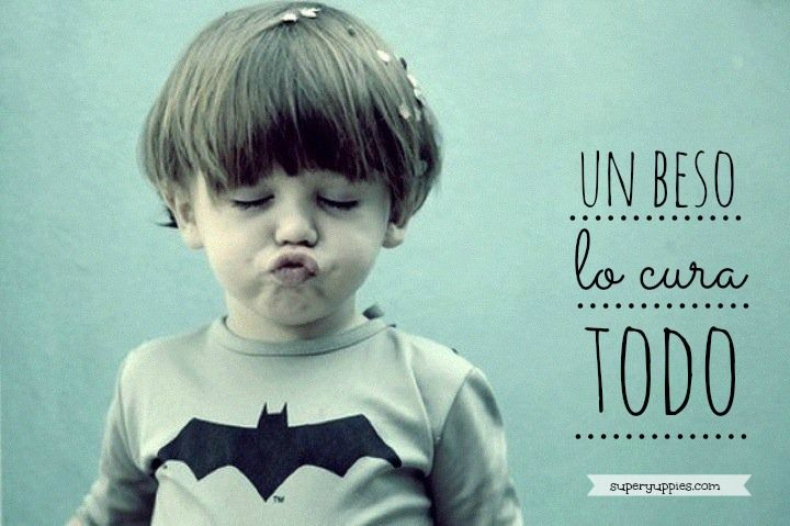 A kiss hires all.... :) #ternura #beso #niño
