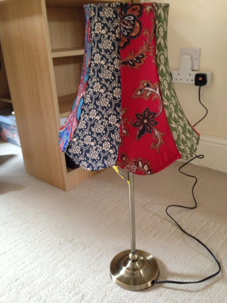 Homemade Patchwork Lampshade