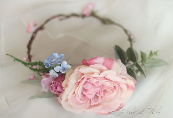 Rosie Silk flower crown hair circlet. Flower by LaPlumeDeFleur
