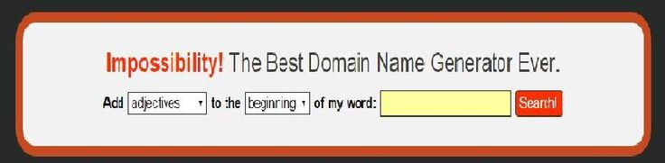 You give us a keyword and we combine it with our carefully selected list of nouns, verbs, and adjectives. Then we search for unregistered .com domain names and show you the results. Easy, right?Our domain name generator is written primarily in Node.JS, with a bit of PHP used for domain availability checking. Node acts as the primary webserver, domain generator, and also handles load balancing across our pool of lookup servers. We use servers from iPage and Linode.