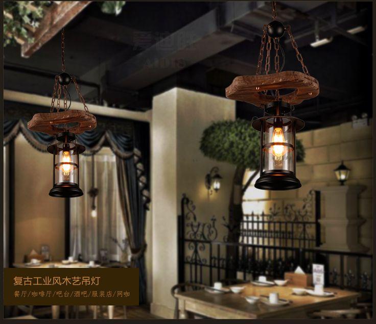 Старинные корабль дерева, чтобы сделать старый ресторан и бар, КТВ и Интернет кафе клуб кафе лампы резная тяжелая стеклянная люстра-определиться. com дней кошка