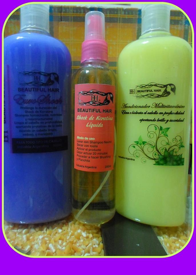 Kit Shock Keratina Liquida Hidrolizada :  Spray1/4+Shampoo y Balsamo Euroshock 1/2. Un shock de puro brillo en tu pelo