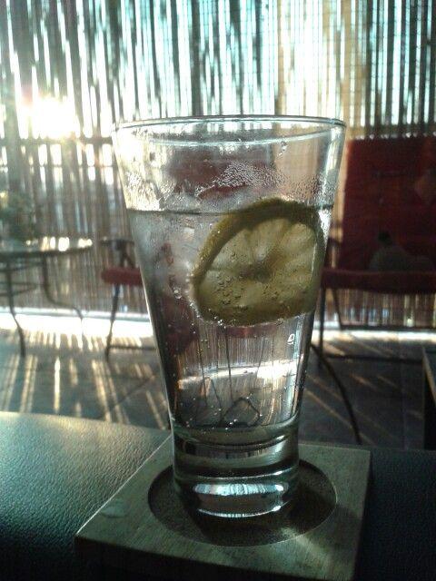 Clásico vodka con tónica y limón